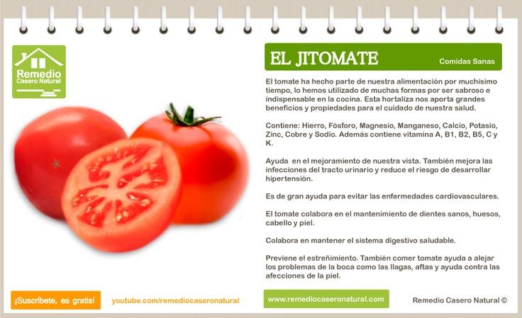 Conoce las grandes bondades del tomate de aliño o jitomate, sus beneficios, sus nutrientes y sus grandes propiedades.