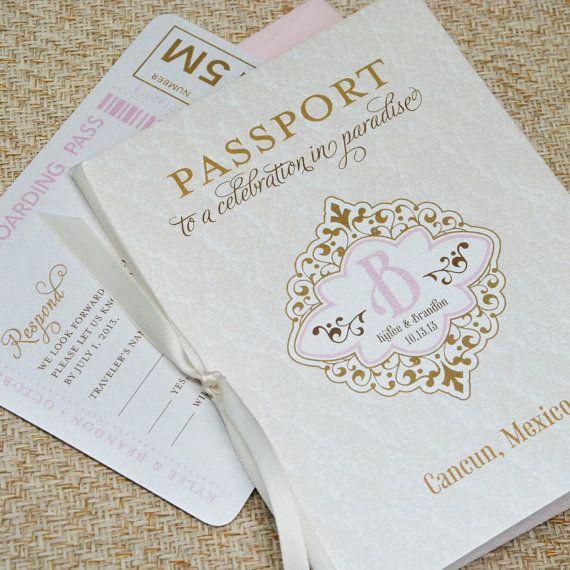 17 Best ideas about Passport Wedding Invitations – Passport Wedding Invites