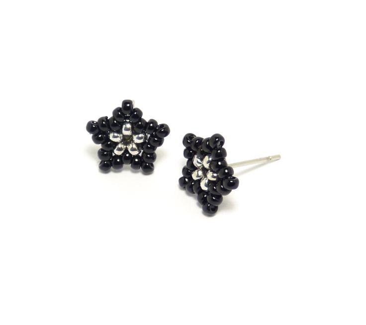 Grey Beads: Little Black Stars