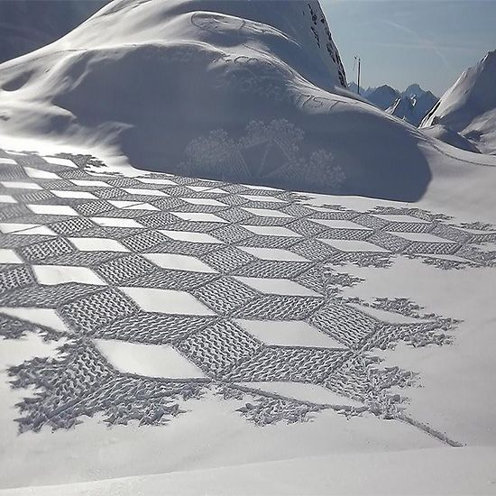 Intricate Snow Art by Simon Beck | Inspiration Grid | Design Inspiration