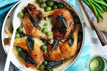 Chicken with olives and sage  Need to find Sicilian olives