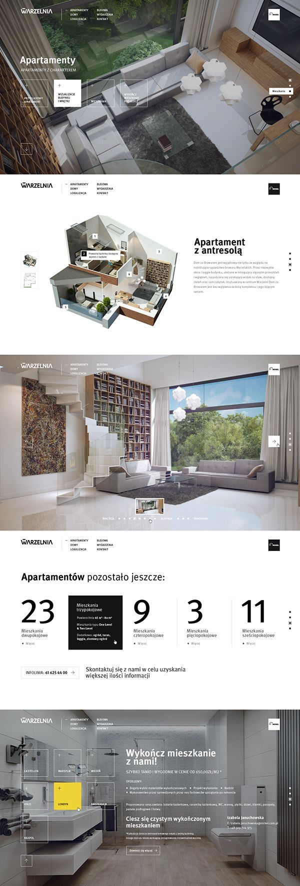 New Warzelnia by Michał Jakobsze, via Behance - #webdesign #architecture:
