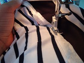 coser tela elástica con máquina normal