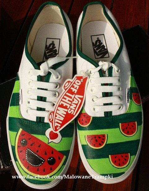 VANS watermelon made to order watermelon by StarfyDesigns