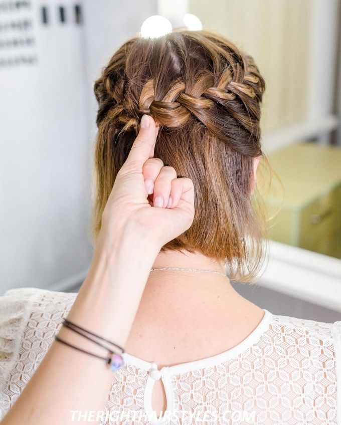 How To Do A Half Up French Braid Crown In 6 Easy Steps Braided Crown Hairstyles French Braid Short Hair Braids For Short Hair