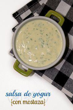 Salsa de yogur con mostaza by Las Salsas de la Vida http://www.lassalsasdelavida.com/2013/04/salsa-de-yogur-con-mostaza.html