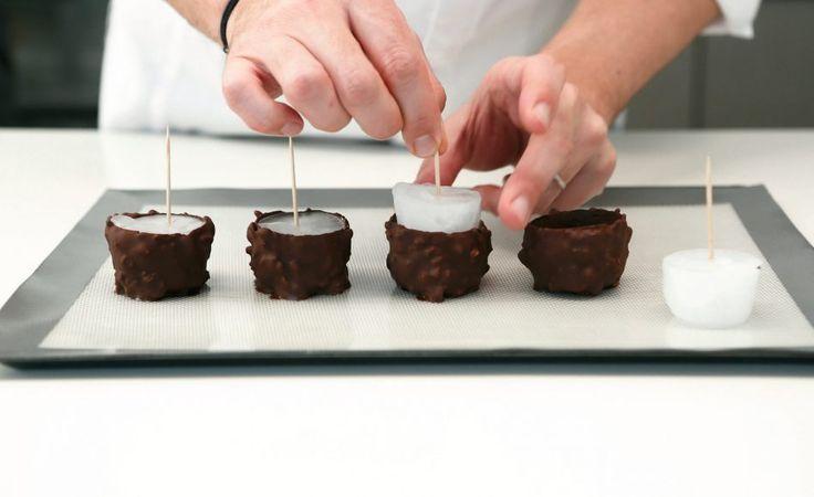 coques en chocolat réalisé avec des glaçons