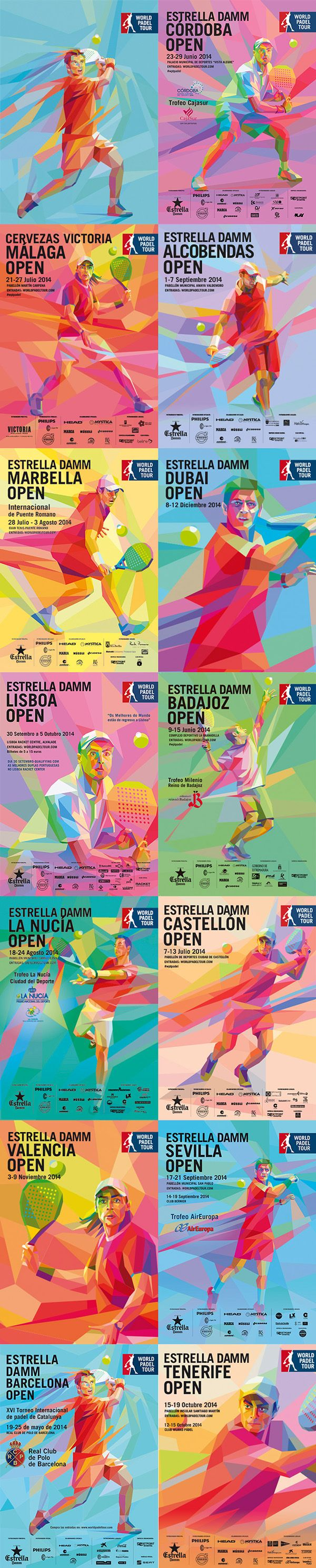 Estrella Damm World Padel Tour on Digital Art Served