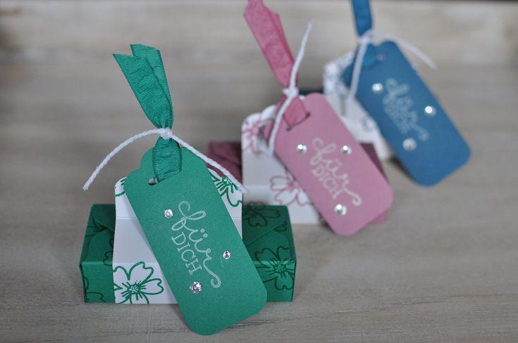 Box für 4 Merci Riegel mit dem Envelope Punch Board und Produkten von St...