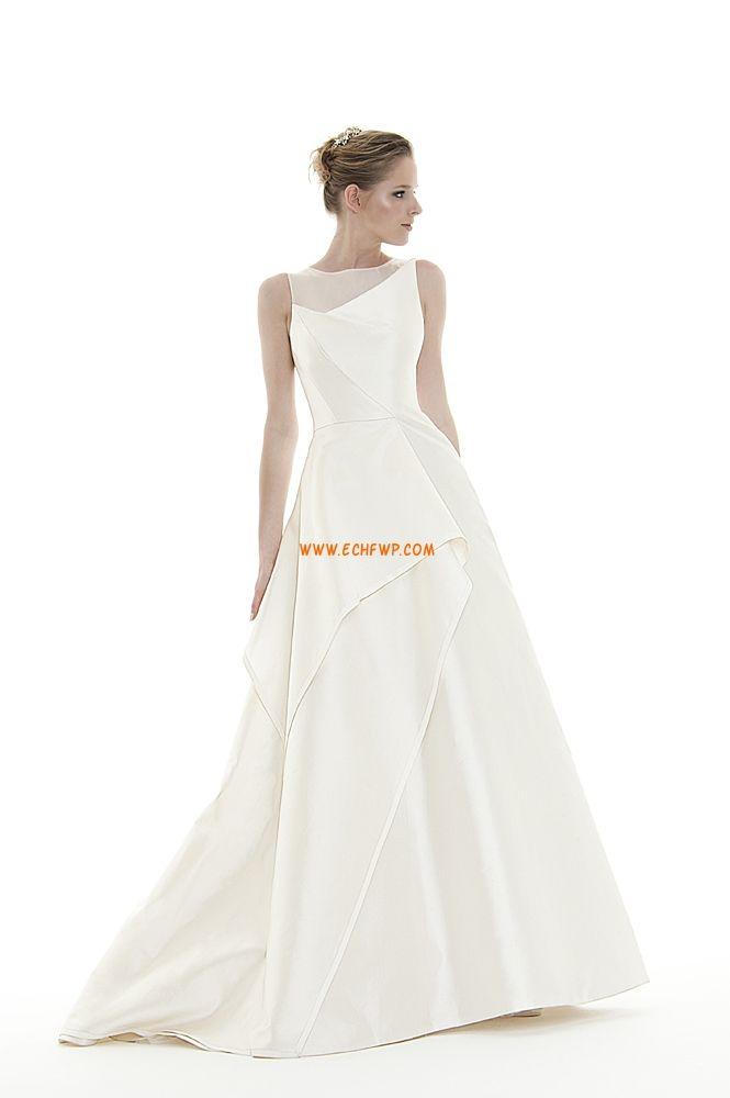 Col bateau Zip Naturel Robes de mariée pas cher