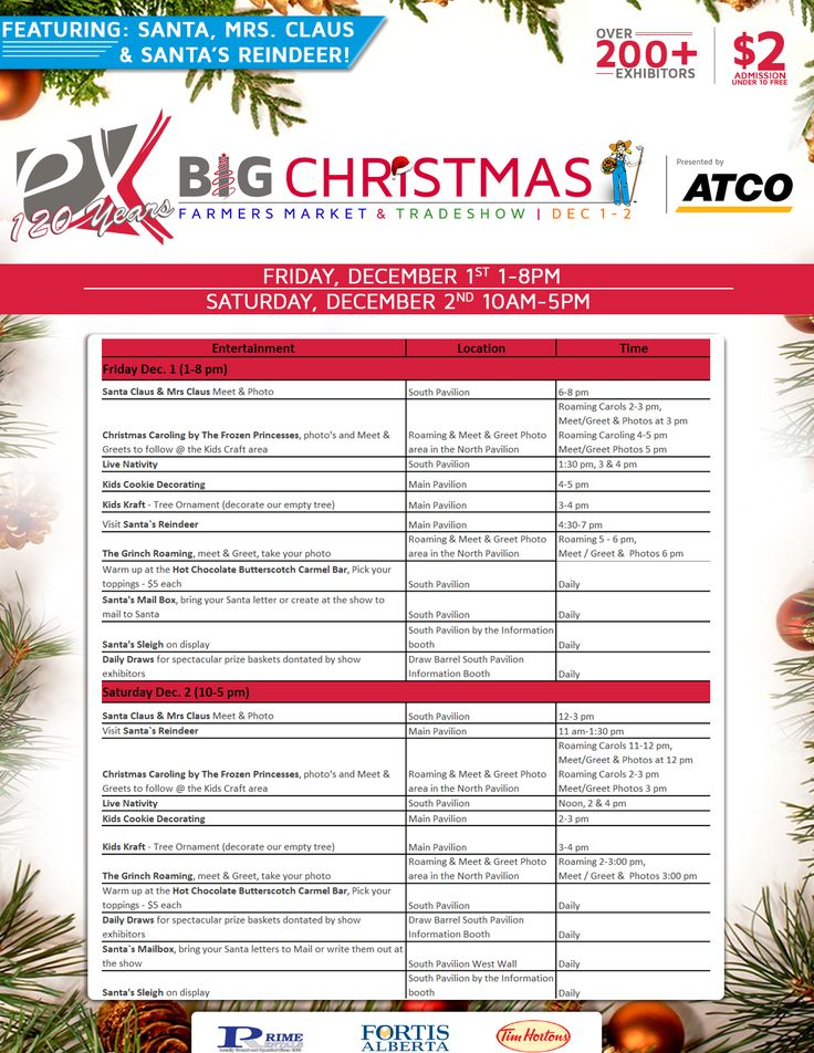 BIG Christmas Farmers Market & Tradeshow presented by ATCO | Dec 1 & 2  More: www.exhibitionpark.ca/the-big-christmas-trade-show/  #BIGChristmas #yql #lethbridge #ItsAtTheEX