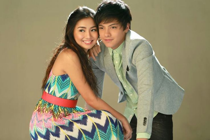 """This is the pretty Kathryn Bernardo and the handsome Daniel Padilla smiling for the camera and posing for the camera for a promotion of their romantic comedy which premiered on ABS-CBN from August 2013 to February 2014, """"Got to Believe."""" #KathrynBernardo #DanielPadilla #KathNiel #KathNielBernaDilla #GotToBelieve #G2B"""