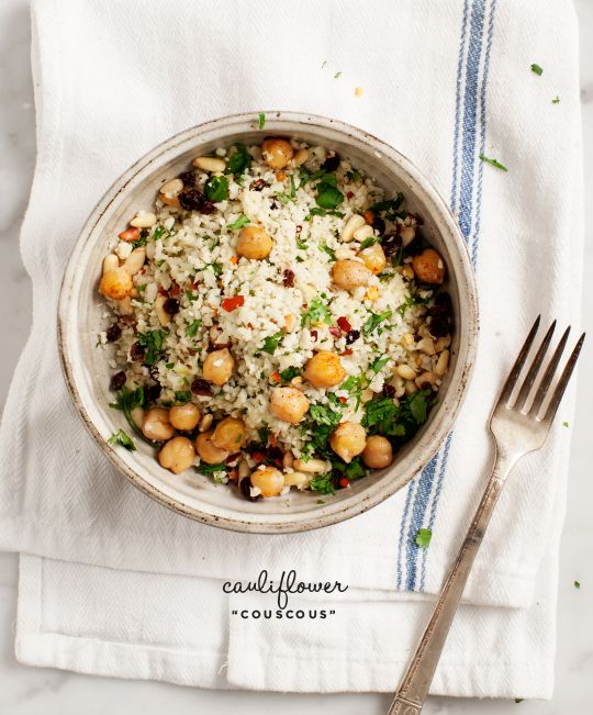 "spiced cauliflower ""couscous"" - Love and Lemons"