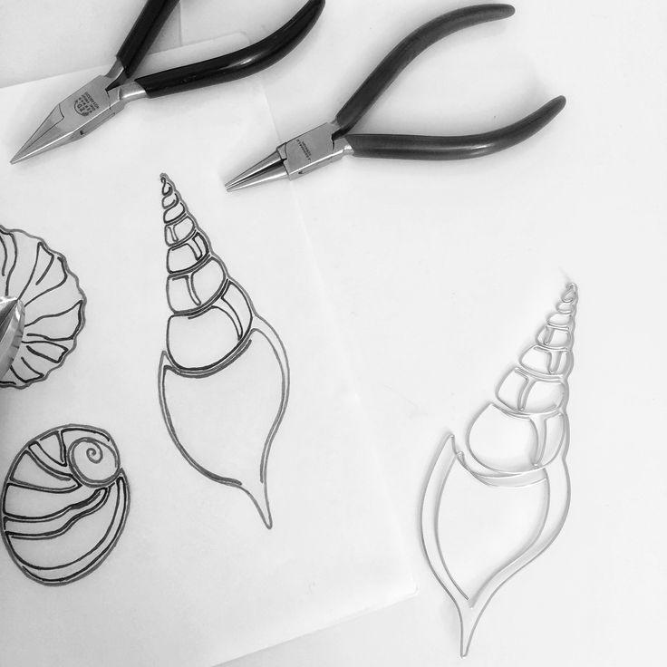 Wire art - seashells ... work in progress  Instagram @springstring
