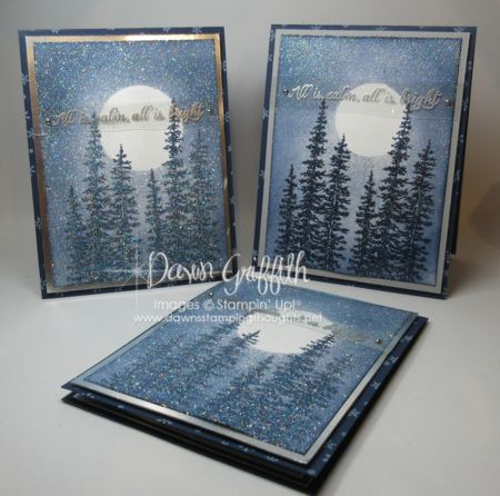 Dawn Griffith: Wonderland Christmas Cards - Versatile Christmas - Silver Foil Sheets - Dazzling Diamonds Glitter