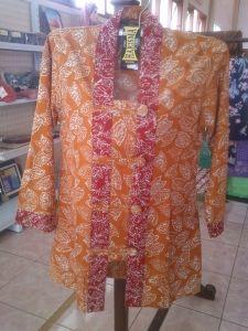 Jual Blus Batik Motif Daun | Toko Online Batik Kendal | Jual Batik Berkualitas | Toko Batik