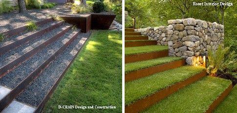 садовые лестницы из кортен стали