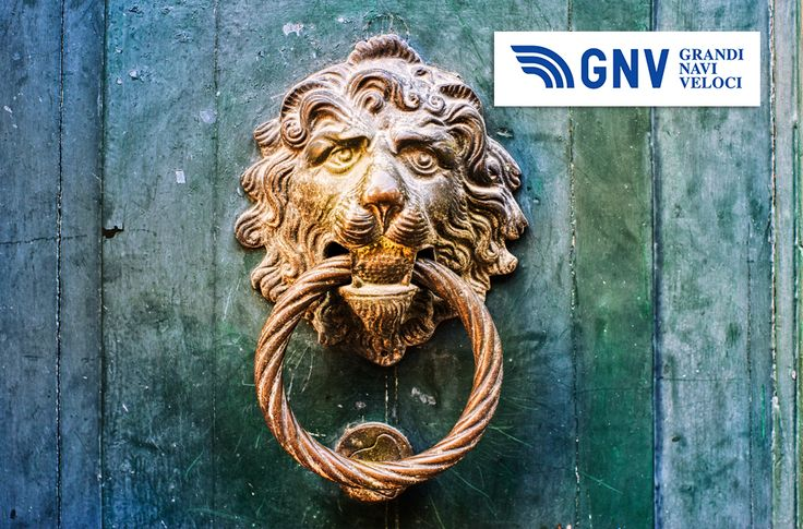 Decorative gilded lion head door knob #Italy #Design. Discover #GNV routes in our website:www.gnv.it/en/