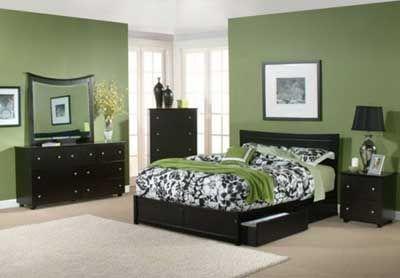 Colores relajantes. Decoracion verde dormitorio cuarto o habitacion