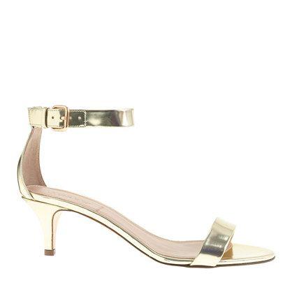 J.Crew - Mirror metallic kitten-heel sandals