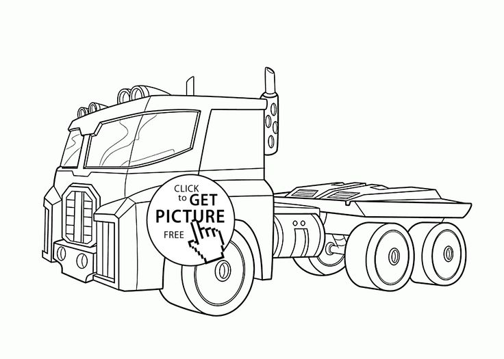 optimus prime bot coloring pages for kids printable free rescue bots - Optimus Prime Truck Coloring Page