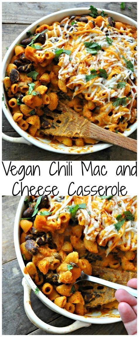 Vegan Chili Mac and Cheese Casserole