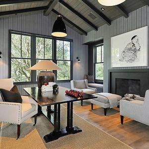 Love The Gray Vaulted Ceiling Great Texture Too Beadboard And Beams