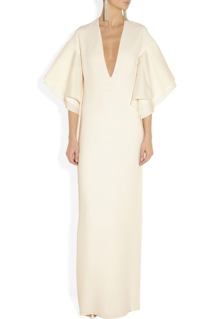 Gucci | Plunge-front silk-cady gown | NET-A-PORTER.COM