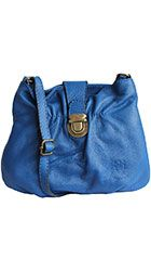 Ruched Blue Soft Leather Satchel/Cross Body Bag - Down to £34.99 from £19.99