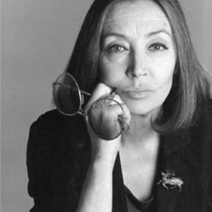 "Oriana Fallaci (1929 - 2006), Italian journalist, author, and political interviewer.      ""I have always looked at disobedience towards the oppresive as the only way to use the miracle of having been born."""