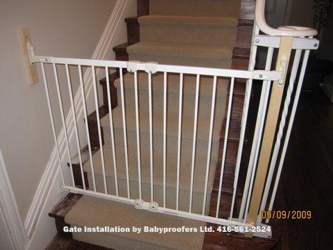 Elegant Hallway Baby Gate