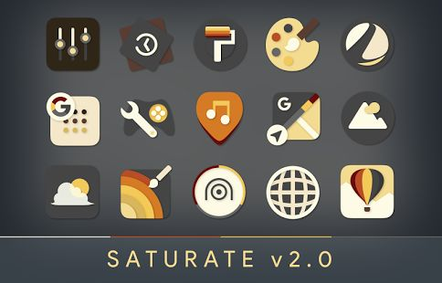 Saturate - Free Icon Pack: miniatura da captura de tela