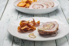 Roti de longe de porc farci aux pommes et au bacon