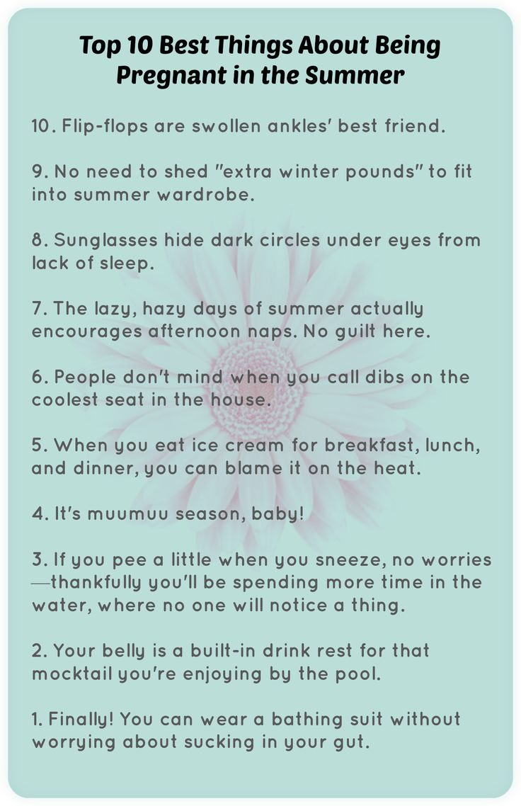 Pregnant in the summer? Here are the best things about it! #summer #pregnant