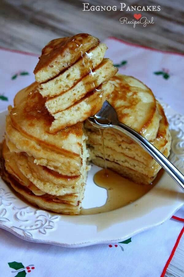 Eggnog pancakes | Holiday ideas & food | Pinterest