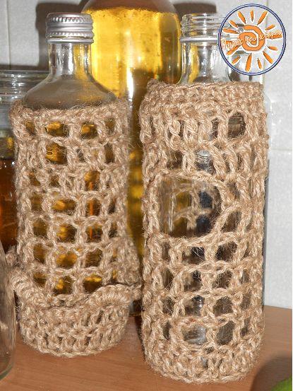 Πηγές του κόσμου knit - crochet cafe - Ολοφύτου 4 Ανω Πατήσια: ντύνω και τα μπουκάλια ...!