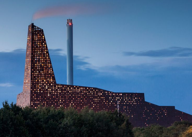 A Beautiful Waste-To-Energy Plant Glows In Denmark   The Creators Project
