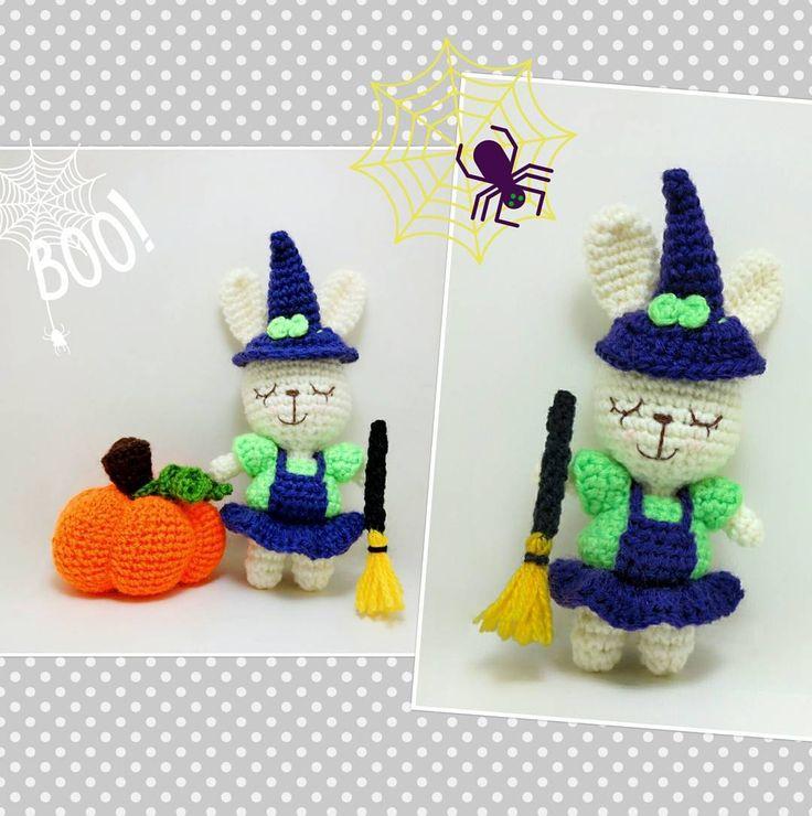 Crochet bunny witch Halloween