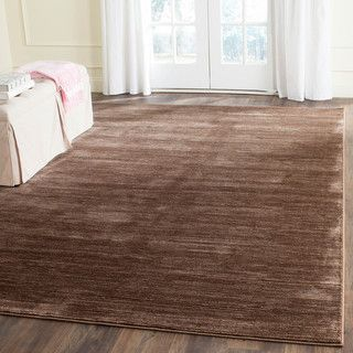 Safavieh California Cozy Solid Brown Shag Rug (4' x 6') | Overstock.com Shopping - The Best Deals on 3x5 - 4x6 Rugs