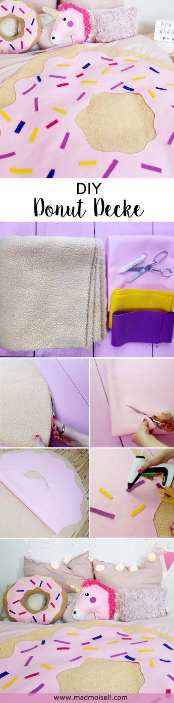 DIY Donut Decke ohne Nähen selber machen: So dekorierst du dein Zimmer mit bunter DIY Deko im Tumblr-und Pinterest-Style!
