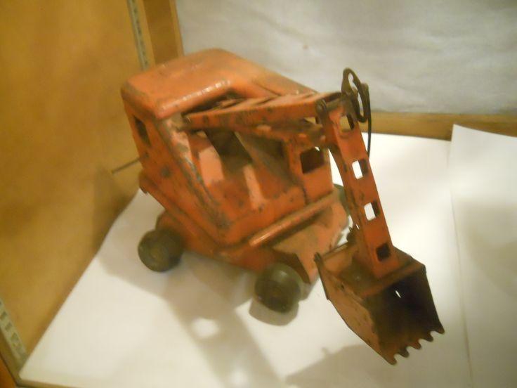 Toys For Days : Olden day metal backhoe antique kids games toys