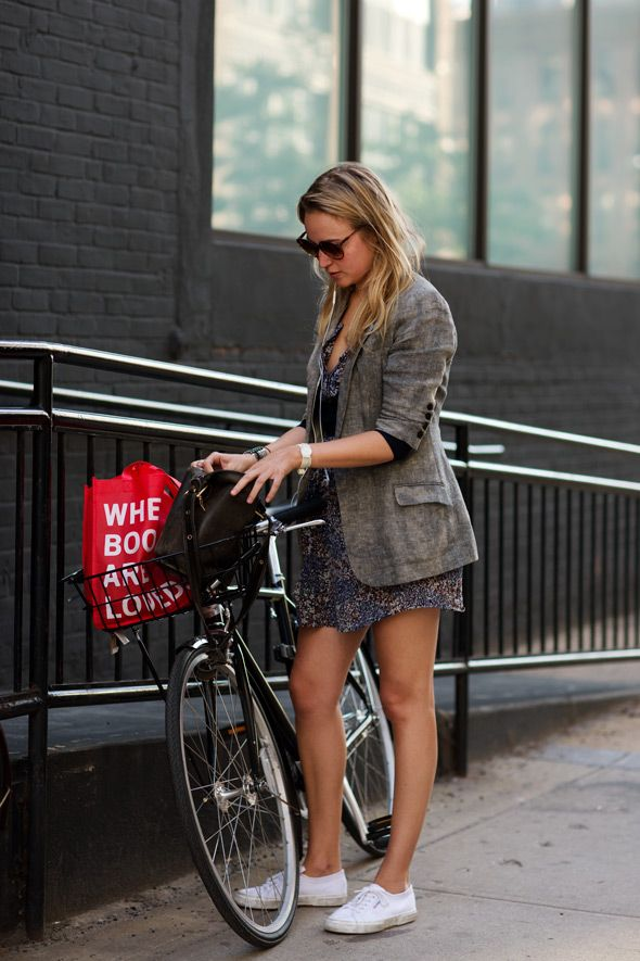 -: Fit Workout, Summer Dresses, Bike Riding, Street Style, The Sartorialist, New York Style, Floral Dresses, Bike Style, Style Fashion