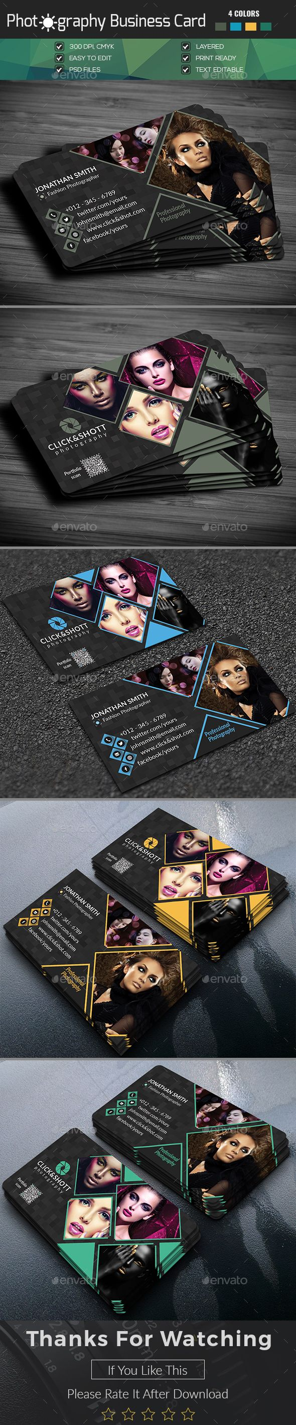 Photography Business Card - Business Cards Print Templates Download here : https://graphicriver.net/item/business-card-tem28/19159430?s_rank=158&ref=Al-fatih