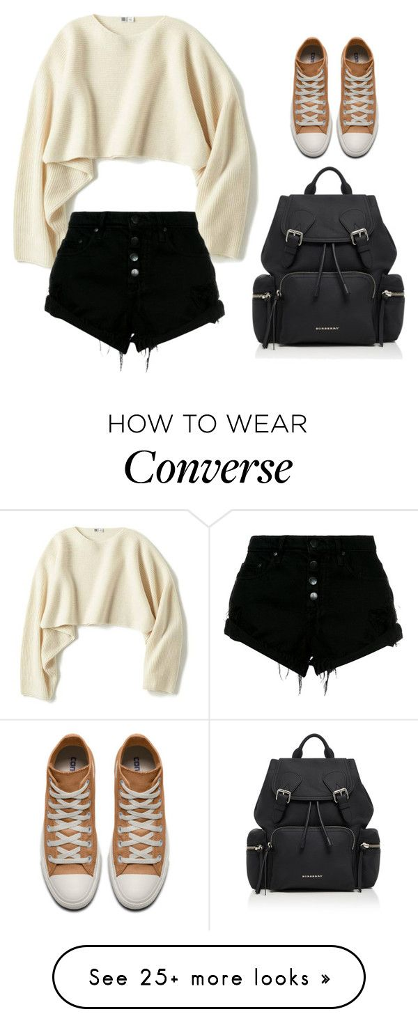 """""""thx"""" by xx-secret-xx on Polyvore featuring Burberry, Uniqlo and Nobody Denim"""
