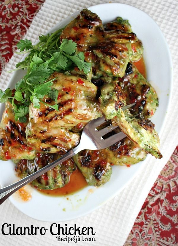 My very favorite chicken recipe!  Big hit with RecipeGirl readers:  Cilantro Chicken