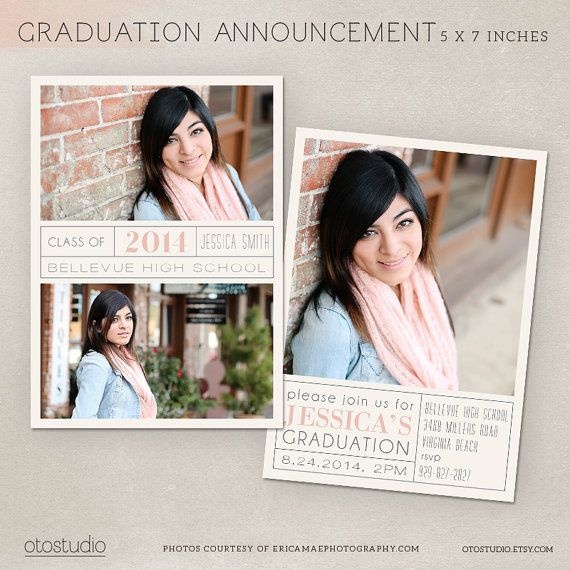 Best Photography Graduation Announcement Templates Images On
