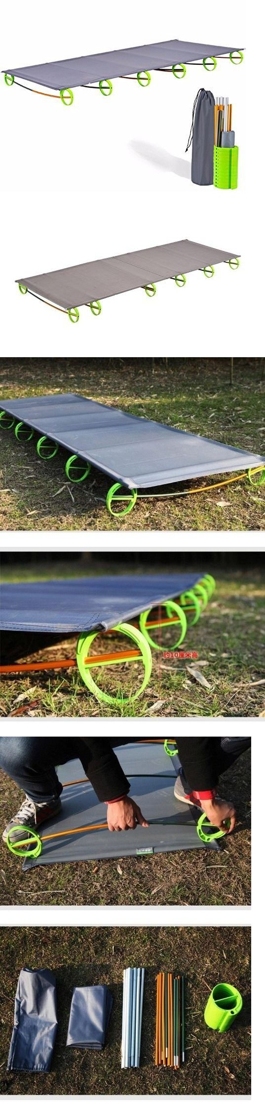 Cots 87099: Ultralight Folding Bed Portable Aluminium Alloy Cots Camping Tent Bed Outdoor -> BUY IT NOW ONLY: $45.99 on eBay!