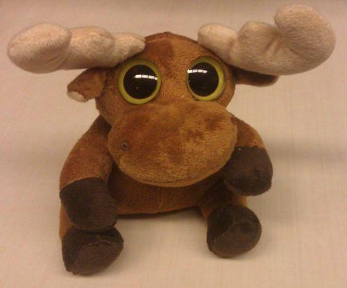 Big Eyed Moose stuffed animal - approx 6 inches tall - Ships Worldwide