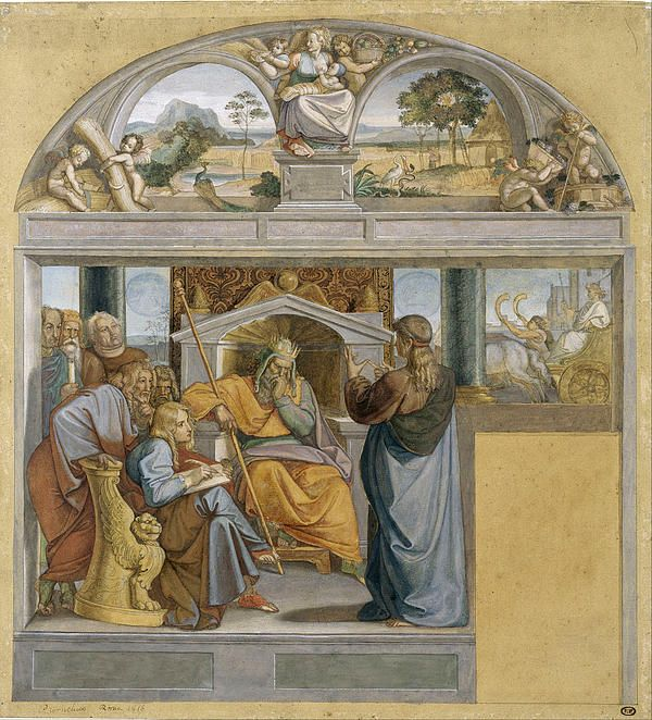 Joseph Interpreting Pharaoh's Dreams  Peter von Cornelius  Fresco