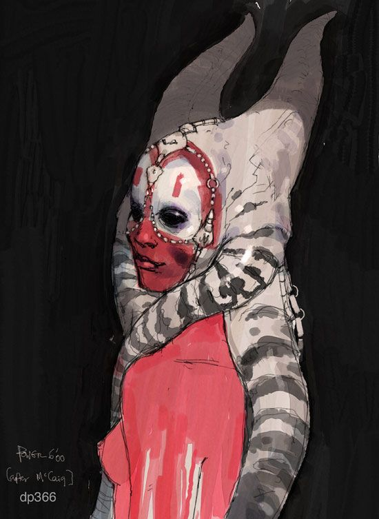 Shaak Ti - Concept art by Dermot Power and Iain McCaig